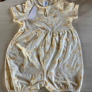 Baby Gap Yellow Floral one piece Romper NWT Sz 2